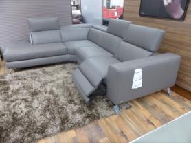 Natuzzi Editions Luca Power reclining L/H facing Chaise sofa