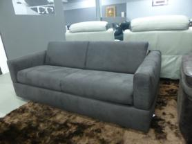ROSSANA MANUFACTURED BY NATUZZI COMFORTABLE BROWN FABRIC SOFA BED