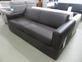 NATUZZI EDITIONS ROSSANA ITALIAN LEATHER SOFA BED - BROWN