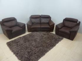 Natuzzi Editions Andria Madison Leather 2 seater & 2 chairs all Power