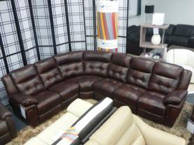 LA-Z-BOY NASHVILLE HIGH GRADE TRUFFLE LEATHER POWER CORNER SOFA