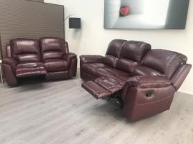 VIOLINO HIGH GRADE FULL LEATHER 3 & 2 SEATER- MANUAL RECLINERS