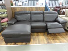 Natuzzi Editions Andria Leather 3 Seater power reclining chaise sofa