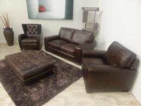Natuzzi Editions Chatsworth 3 seat, chair, wingback Chair & footstool