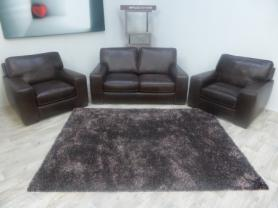 NATUZZI EDITIONS CHATSWORTH LEATHER 2 SEATER & 2 CHAIRS