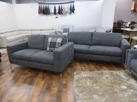 NATUZZI EDITIONS PISA 3 SEATER AND 2 SEATER IN LUXURY GREY FABRIC