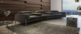 Cannes Home cinema seat sofa with power modules by Calia Italia