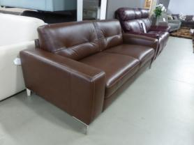 NATUZZI EDITIONS HIGHPOINT ITALIAN LEATHER SOFA BED - BROWN