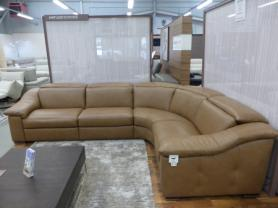 Natuzzi Editions Sanremo Leather L/H Power Recliner Corner Sofa/Power