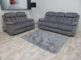 Georgia modern excellent High quality fabric 3, 2 Power recliners