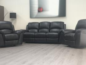 VIOLINO HIGH GRADE FULL LEATHER 3 & 2 CHAIRS- MANUAL RECLINERS