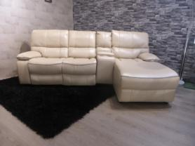AMORE MILANO 3 SEATER MANUAL RECLINER CHAISE WITH DRINKS