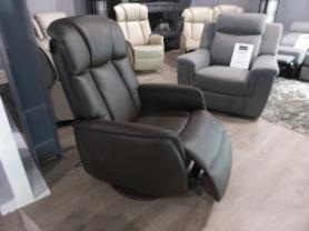 STRESS FREE BROWN POWER RECLINING SWIVEL ROCKING CHAIR
