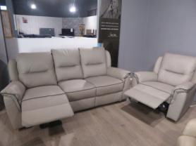 Amore Como full leather power reclining 3 seater & chair
