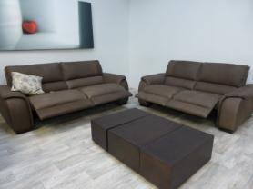 NATUZZI EDITIONS HIGHEST CATEGORY LEATHER POWER RECLINING 3+2 SEATERS