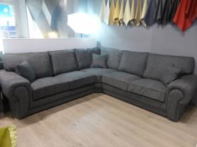 Victoria arm to arm high quality fabric corner sofa