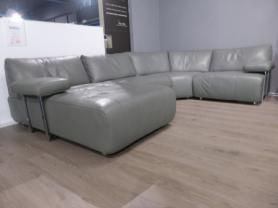 VIOLINO BAROLI COMFORTABLE HIGH GRADE LARGE LEATHER CORNER SOFA