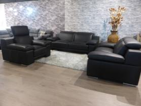 New Trend Concepts Evergreen Leather 3+2+1 sofa set