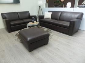 Natuzzi Private label Italian Leather Darwin 3+2 & footstool