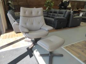 NATUZZI ITALIA CLUB KING RE-VIVE 604K RECLINER CHAIR ITALIAN LEATHER