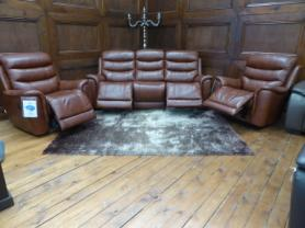 La-z-boy Sheridan Leather 3 Seater with 2 Chairs