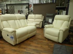 La-z-boy Georgia Full Leather power reclining 2 seater and chair