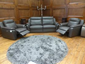 ICD San Marco Hand made Italian Leather power reclining & 2 chairs