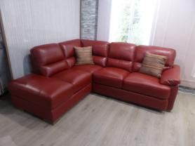 Mizzoni Italia Amalfi full leather chaise corner sofa