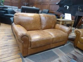 Charles Morgan beautiful Antique Natural full leather 2 seater