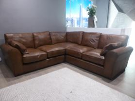 Mizzoni Italia Norcia arm to arm duck feather full leather corner sofa