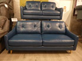 Mizzoni Italia Leather modern 3 & 2 seater sofa