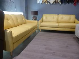 Premier Daisy thick leather 3 & 3 seater sofas