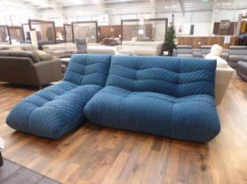 Amore Italian Fabric funky 3 seater chaise sofa