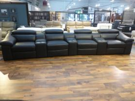 Wave II all power reclining home cinema room leather sofa by Natuzzi