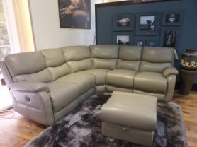 Mizzoni Italia Novara Italian leather power reclining corner sofa