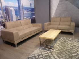 Milano soft Beige fabric Modern 3 & 2 seater sofas