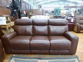 Premier Avo Full Leather 3 Seater Power Recliner