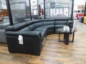 Natuzzi Tommaso Leather R/H power reclining corner sofa