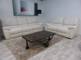 Natuzzi Casablanca Full Leather 3 Seater & 2 Seater All Power Recliner
