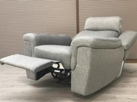 Fusion pocket sprung power reclining chair with adjustable headrest