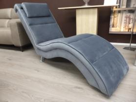 Gala Soft Mid Grey fabric BiBi Lounger