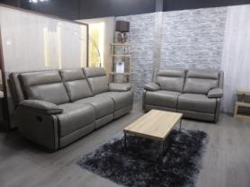 Seattle thick fabric modern 3 & 2 seater manual recliners