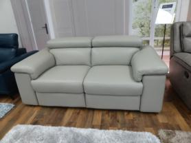 Nirvana thick leather power reclining two seater hand made in Italy