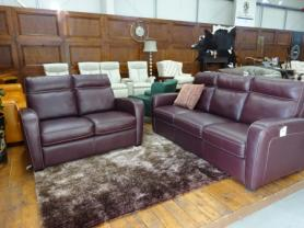Natuzzi B938 Rodrigo high grade leather 3 & 2 seater sofa