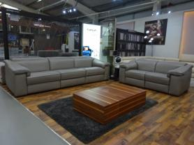 Natuzzi Italia Brick 3049 Leather sofa & 2 Seater- power recliners