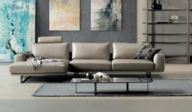Natuzzi Italia Tempo 2834 sofa with chaise longue in beautiful Italian