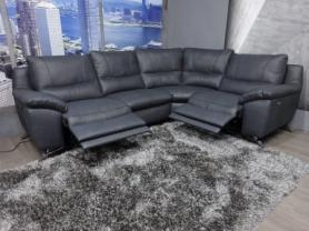 Natuzzi Santana Leather Power reclining corner sofa