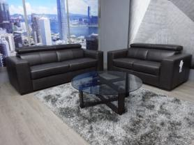 Natuzzi Editions Piacevole Italian Leather 3 & 2 Seater sofa