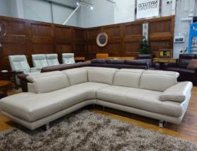 Natuzzi Adamo B878 Italian Leather L/H Corner Sofa
