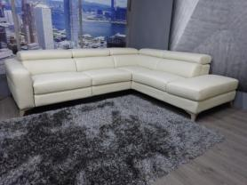 Francoferri Italia Elsa leather power reclining corner sofa